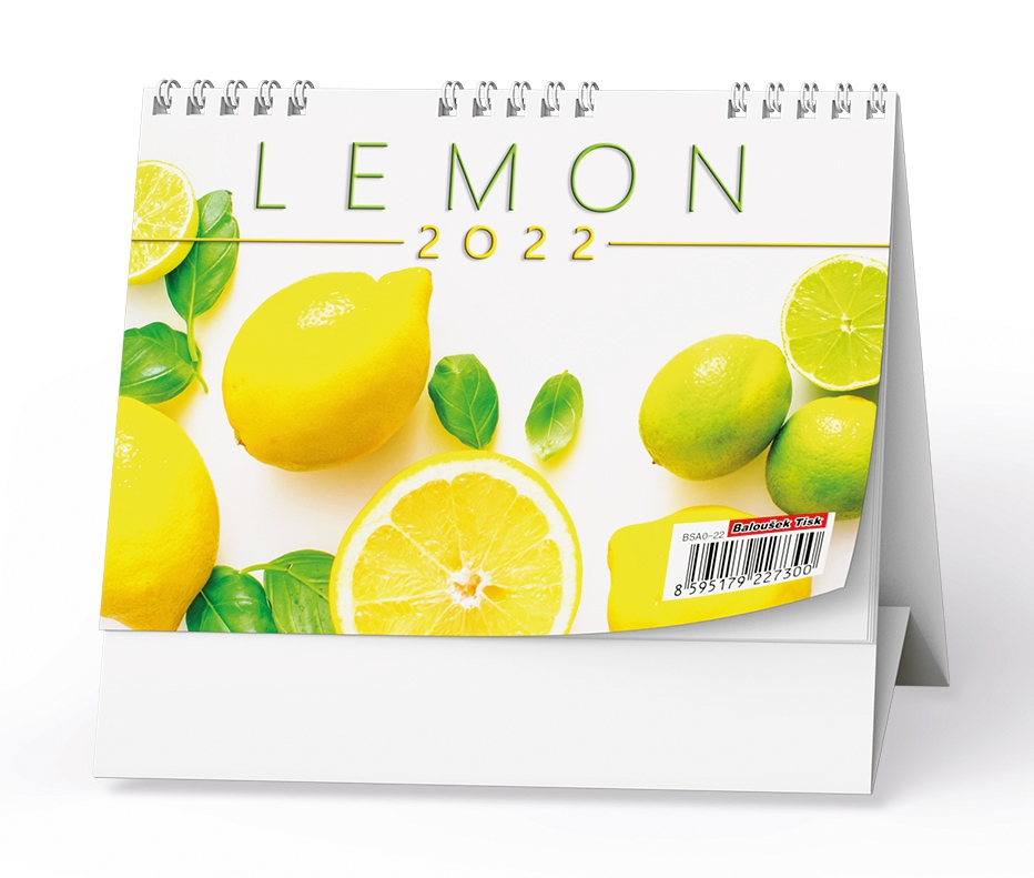 Kalendář stolní pracovní Lemon