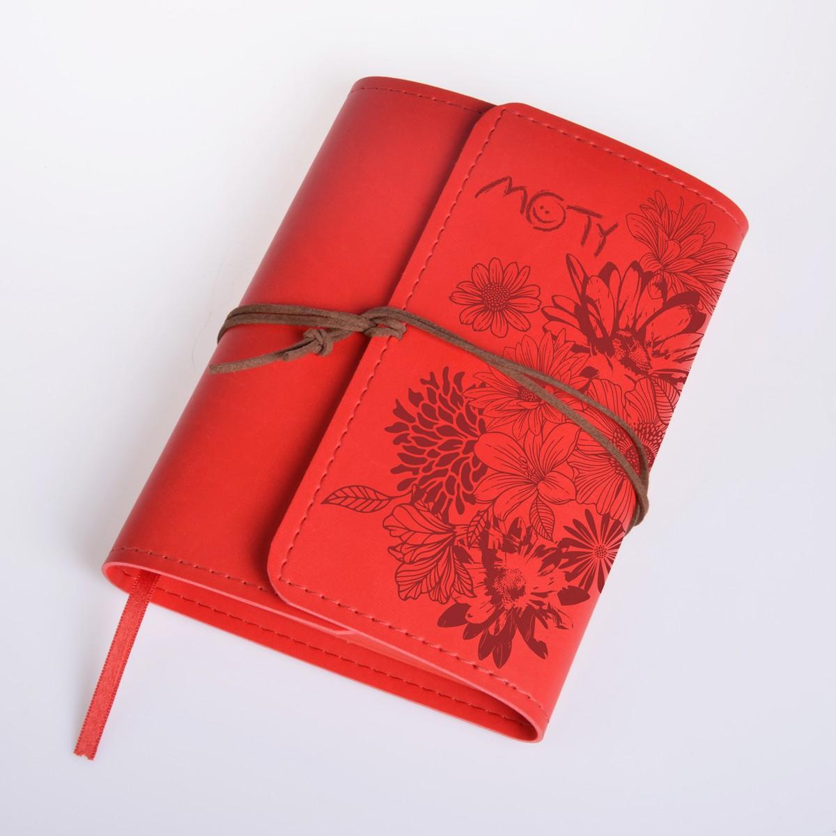 Zápisník motivační MOTY Vivella červený