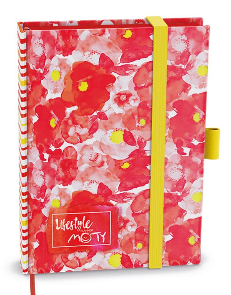 Zápisník motivační MOTY červený